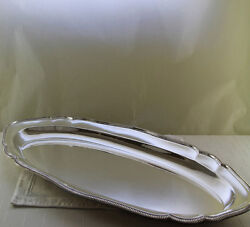 Silver Fish Platter 29 In. With French Gadroon Applied Border