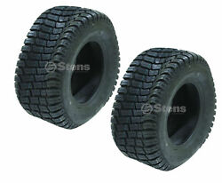 160-208 Stens Set Of 2 Cst Turf Tires 16x7.5-8 Pro Tech Tread Tubeless 4 Ply