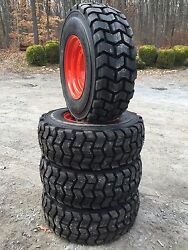 4 New 12-16.5 Skid Steer Tires/rims For Bobcat A300,a770,s750,s770,s740