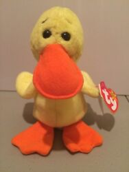 Rare Early Edition Quackers Mint Condition Beanie Baby