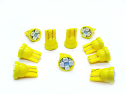 10 Buick Bright Yellow Amber Leds 194 Wedge Instrument Panel Dash Lights Bulbs