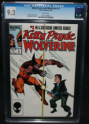 Kitty Pryde And Wolverine 3 - X-men Claremont And Milgrom - Cgc Grade 9.2 - 1985