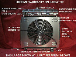 Aluminum Radiator W/shroud And Fan 1953-1956 Ford Pickup Truck F-100 Chevy Motor