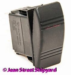 3 Pos 7 Terminal Dpdt Lighted Carling Contura Rocker Switch On/off/both 13021