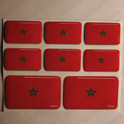 Sticker Morocco Resin Domed Stickers Morocco Flag 3d Vinyl Adhesive Decal Car