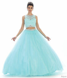 SALE ! 2 PIECE QUINCEANERA DRESS SWEET 16 PARTY PAGEANT PROM MILITARY BALL GOWNS $164.99