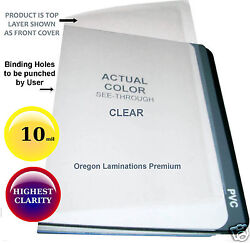 1000 Clear 10 Mil Report Covers 8-1/2 X 11 Plastic Binding Sheets Unpunched