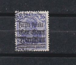 1918/9 Sc 21a Ultramarine - Color Variety Used  C368