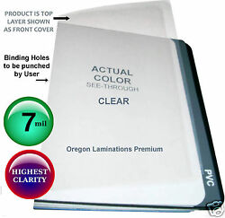 1000 Clear Report Covers 7 Mil 8-1/2 X 11 Plastic Binding Sheets Unpunched