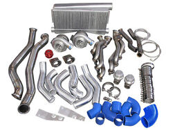 Twin Turbo Intercooler Kit For 1986-1992 Toyota Supra Mk3 With Ls1 Swap-blue