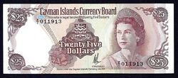Cayman Islands 25 Dollars 1974 P8a Replacement Z/1