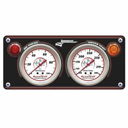 Longacre Sportsman Gauge Panel With Gauges Oil Pressure And Water Temp 44430