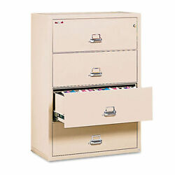FireKing 4-Drawer Lateral Insulated File 37-27/64W Parchment FIR 43822CPA