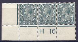 N231 4d Grey Green Royal Cypher Control H 16 Perf Mounted Mint To Rh Stamp