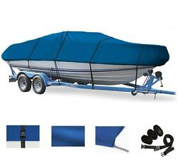 Blue Boat Cover For Crestliner Fish Hawk 1700 Tiller O/b 1995