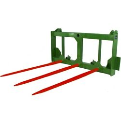 Titan Attachments Hay Spear Frame With Bale Spears And Stabilizers John Deere