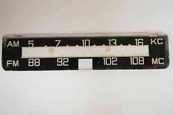 Becker Europa Face Plate Vintage Radio Dial Used In Porschemercedes And Vw Cars
