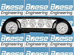 63-64 Ford Galaxie Aluminum Dash Insert Panel W/ Auto Meter Old Tyme White Gps