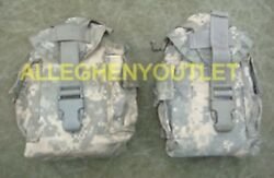 Qty 2 Us Military Army Molle Acu 1 Qt Canteen Cover General Purpose Pouch Exc