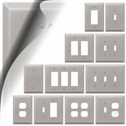 Wall Switch Plate Cover Oversized Brushed Nickel Outlet Toggle Rocker Over Sized