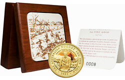 Australia 2001 150th Anniv. Of First Payable Gold Find Gold Proof W/box And Coa