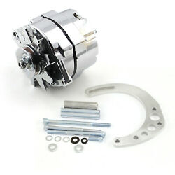 Chevy Sbc 350 100 Amp 3 Wire Alternator And Low Mount Electric Pump Bracket Kit