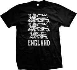 Distressed England Country Crest English Nationality Mens T shirt