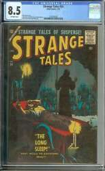 Strange Tales 54 Cgc 8.5 Ow Pages // Scarce Silver Age Pre Hero Story