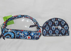NWT Vera Bradley CLEAR COSMETIC DUO Cosmetic Cases in MARRAKESH Small Large $16.20