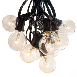 G40 Led Warm White Outdoor Patio Globe String Lights 25', 50' And 100' Lengths
