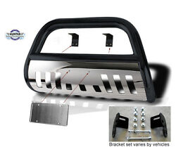 Bull Bar 1997-2002 Ford Expedition 4x4 Classic Black Stainless Skid Plate