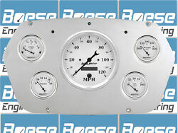 59-60 Dodge Truck Auto Meter Old Tyme White Gauges 1959-1960