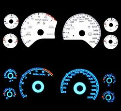 New 97-04 Chevy Corvette Blue Indiglo Glow White Gauges 97 98 99 00 01 02 03 04