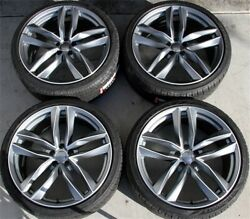 4set 19 19x8.5 Audi B8 Rs4 Style Wheel And Tire Package Fit A4 A6 A8 S4 S6 Q5