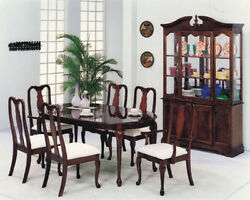 Vintage Look Antique Designed Queen Ann Collection 7pc Pack Dinning Set-asdi