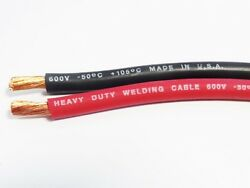 30 Ft 6 Gauge Awg Excelene 105c Welding Cable Red Made In Usa 15and039 Black 15and039 Red