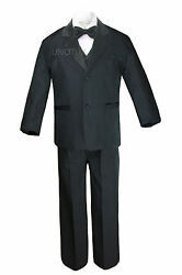 Baby Toddler Teens Boys Black Formal Wedding Party Suits Tuxedos S-20