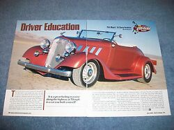 1934 Chevy Roadster Street Rod Article Driver Education Convertible