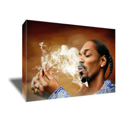 Smoking Icon Snoop Doggy Dogg Poster Photo Painting Artwork On Canvas Wall Art