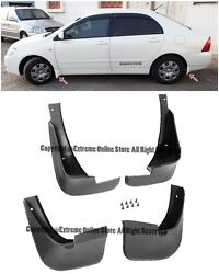 For 03-08 Toyota Corolla 4 X Conversion Front Rear Fender Mud Flaps Splash Guard