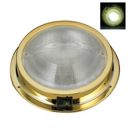 Marine Boat Rv Led Ceiling /cabin/dome White Light Gold Plated Pc Waterproof