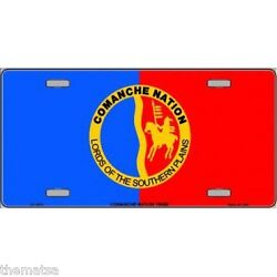 COMANCHE NATION FLAG NATIVE AMERICAN TRIBE METAL LICENSE PLATE MADE IN USA