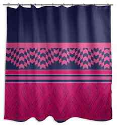 Pink Purple Shower Curtain Soft Polyester Fabric Cute Bathroom Design Colors New