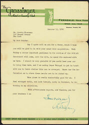 CHAIM WEIZMANN (ISRAEL) - TYPED LETTER SIGNED 10121942
