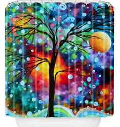Vibrant Art Shower Curtain Polyester Fabric Tree Design Bathroom Many Colors New