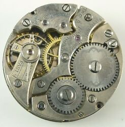 Wittnauer Pocket Watch Movement - Grade 15 Jewels - Spare Parts / Repair