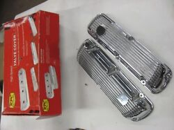 New Polished Aluminum Valve Covers 289 302 Ford Mustang Pair Small Block