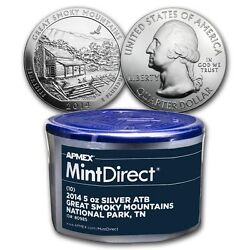 2014 5 Oz Silver Atb Great Smoky Mountains 10-coin Mintdirect® Tube From Apmex
