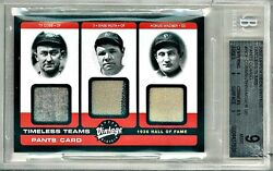 🔥 BGS 9 BABE RUTH TY COBB HONUS WAGNER UD TIMELESS TEAMS JERSEY PANTS POP 1/1