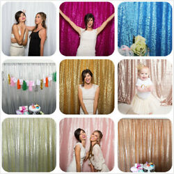 7X7FT Sequin Backdrop Photo Booth Backdrop Party Festival Wedding Sequin Decor